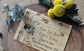 Wood Paper Invitations